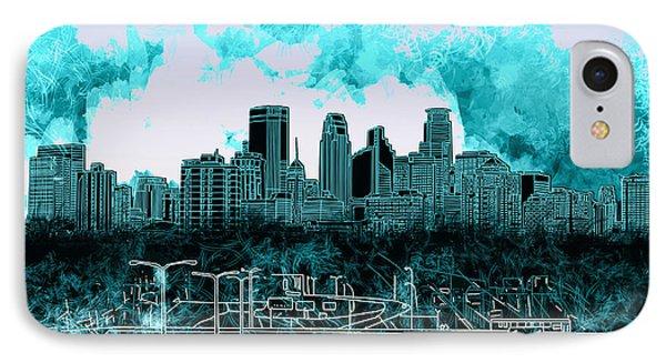 Minneapolis Skyline Abstract 3 IPhone Case
