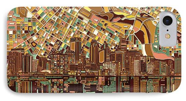 Minneapolis Skyline Abstract 8 IPhone Case