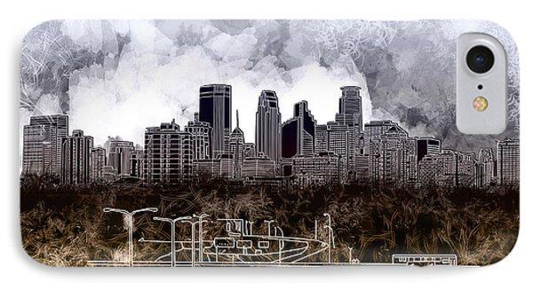 Minneapolis Skyline Abstract IPhone Case