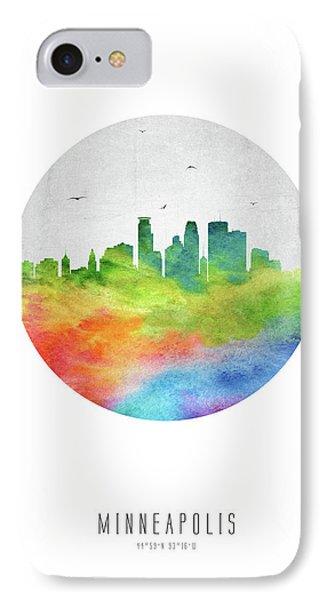 Minneapolis Skyline Usmnmi20 IPhone Case by Aged Pixel