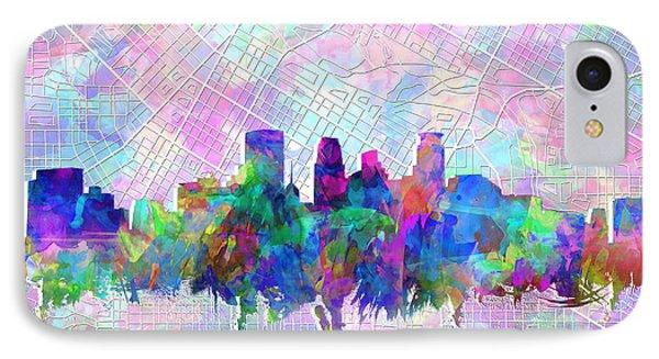 Minneapolis Skyline Watercolor IPhone Case