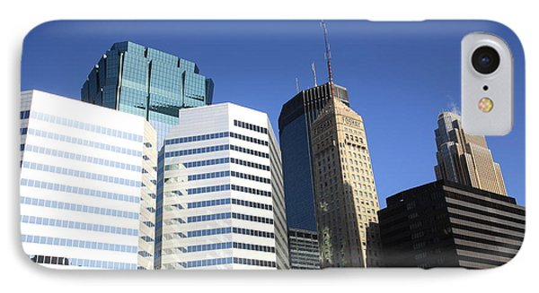 IPhone Case featuring the photograph Minneapolis Skyscrapers 11 by Frank Romeo