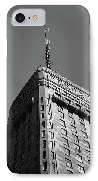 IPhone Case featuring the photograph Minneapolis Tower 6 Bw by Frank Romeo