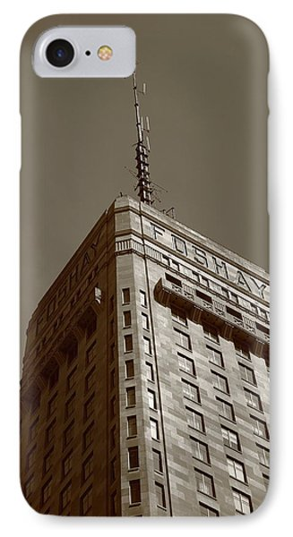 IPhone Case featuring the photograph Minneapolis Tower 6 Sepia by Frank Romeo