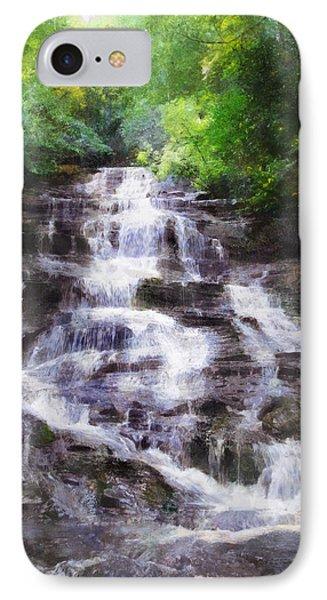 IPhone Case featuring the digital art Minnehaha Falls Summer by Francesa Miller