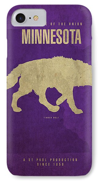 Minnesota State Facts Minimalist Movie Poster Art IPhone Case by Design Turnpike