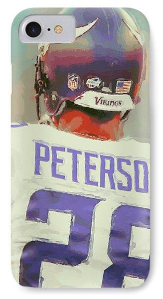 Minnesota Vikings Adrian Peterson 4 IPhone Case by Joe Hamilton