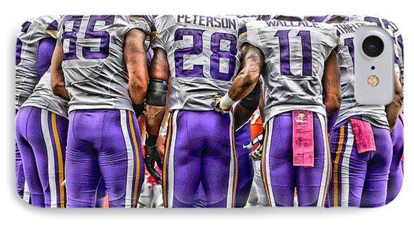 Minnesota Vikings Team Art IPhone Case by Joe Hamilton