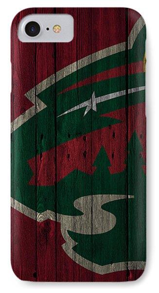 Minnesota Wild Wood Fence IPhone Case by Joe Hamilton