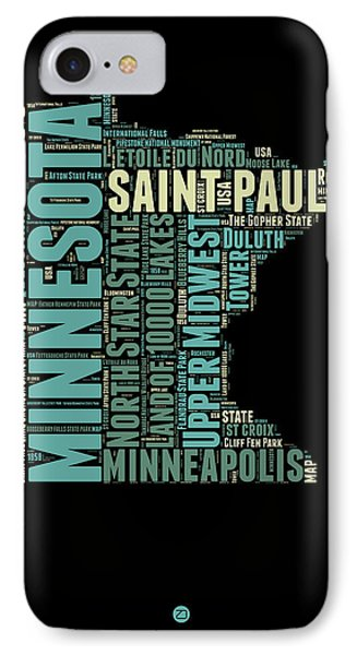 Minnesota Word Cloud Map 1 IPhone Case