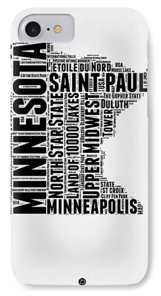 Minnesota Word Cloud Map 2 IPhone Case