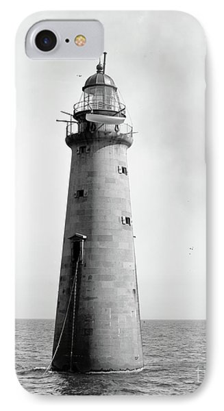 IPhone Case featuring the photograph Minot's Ledge Lighthouse, Boston, Mass Vintage by Vintage