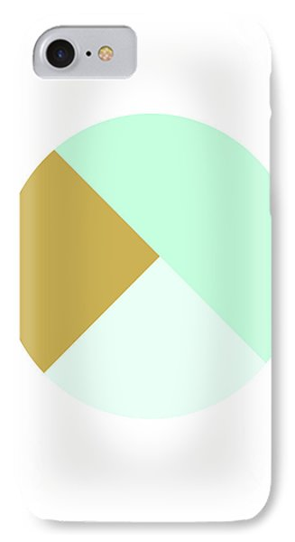 Mint And Gold Ball- By Linda Woods IPhone Case