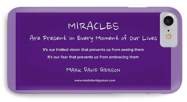 Miracles IPhone Case by Mark David Gerson