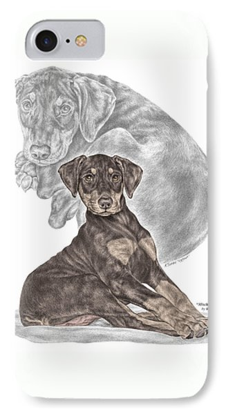 Mischief ... Moi? - Doberman Pinscher Puppy - Color Tinted Phone Case by Kelli Swan