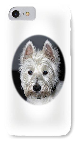 Mischievous Westie Dog IPhone Case by Bob Slitzan