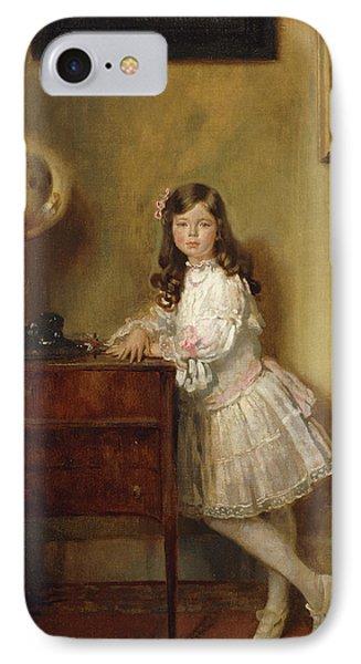 Miss Annie Harmsworth In An Interior IPhone Case by Sir William Orpen