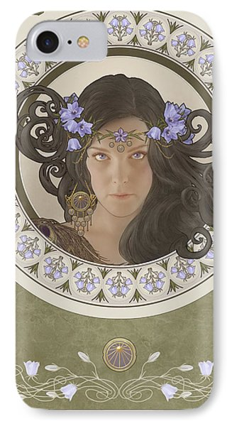 Miss Bluebell IPhone Case by Cassiopeia Art