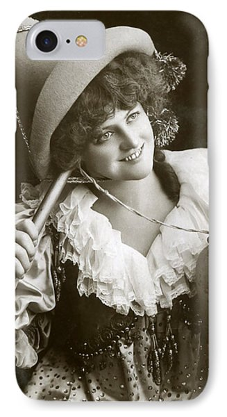 Miss Marie Studholme As Lady Madcap 1905 IPhone Case by Sarah Vernon