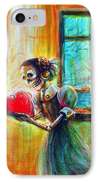 IPhone Case featuring the painting Missing You by Heather Calderon