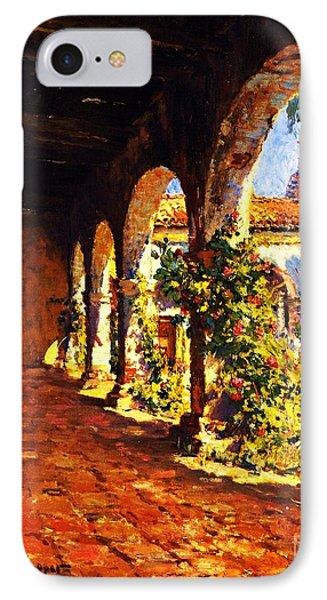 Mission Corridor San Juan Capistrano IPhone Case by Pg Reproductions