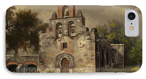 IPhone Case featuring the painting Mission Espada by Kyle Wood