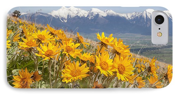 Mission Mountain Balsam Blooms IPhone Case by Jack Bell