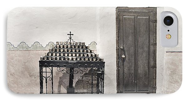 IPhone Case featuring the photograph Mission San Diego - Confessional Door by Christine Till