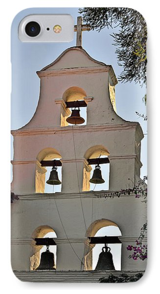 IPhone Case featuring the photograph Mission San Diego De Alcala Bell Tower by Christine Till