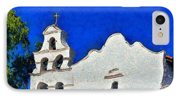 Mission San Diego De Alcala Phone Case by Christine Till