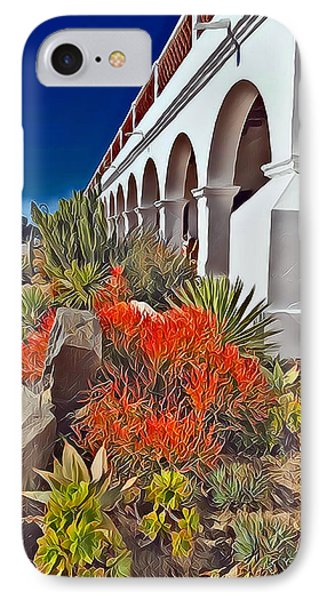 Mission San Luis Rey Garden IPhone Case by Karyn Robinson