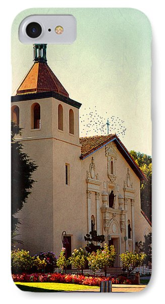 IPhone Case featuring the photograph Mission Santa Clara - California by Glenn McCarthy Art and Photography