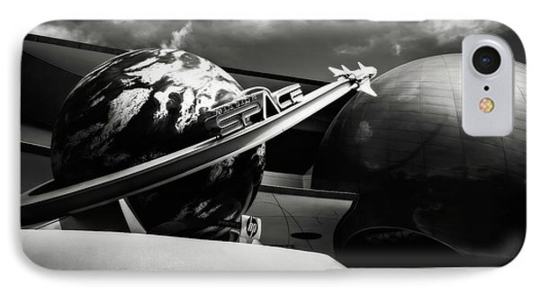 IPhone Case featuring the photograph Mission Space Black And White by Eduard Moldoveanu