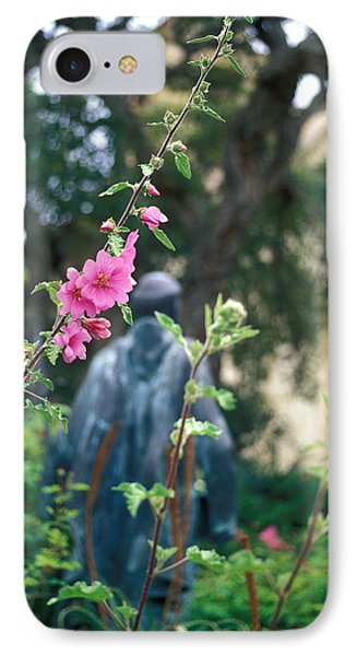 Mission Statue And Flower Phone Case by Kathy Yates