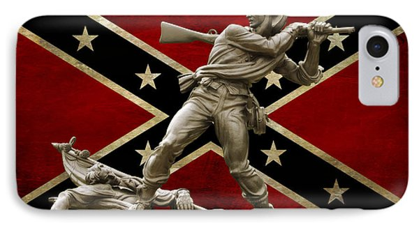 Mississippi Monument And Confederate Flag IPhone Case