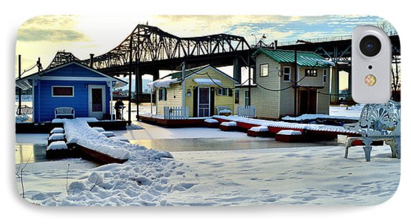 Mississippi River Boathouses IPhone Case