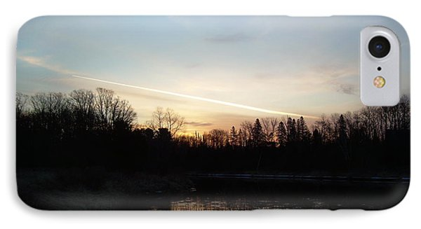 IPhone Case featuring the photograph Mississippi River Colorful Dawn Clouds by Kent Lorentzen