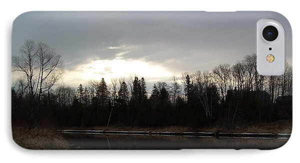 IPhone Case featuring the photograph Mississippi River Dawn Clouds by Kent Lorentzen