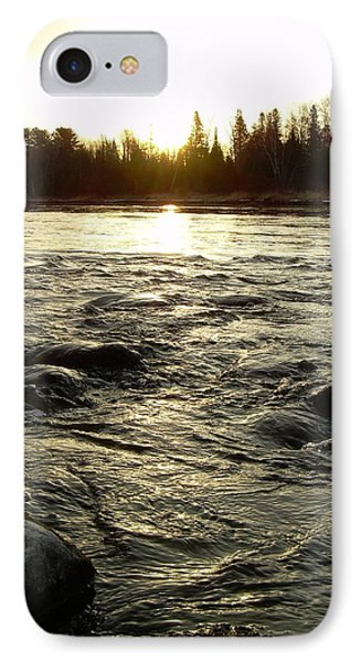 IPhone Case featuring the photograph Mississippi River Dawn Reflection by Kent Lorentzen