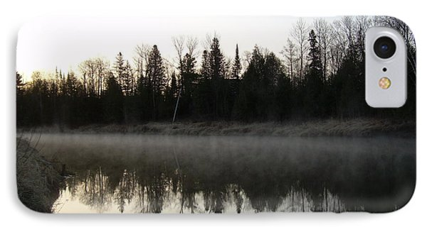 IPhone Case featuring the photograph Mississippi River Fog Reflection by Kent Lorentzen