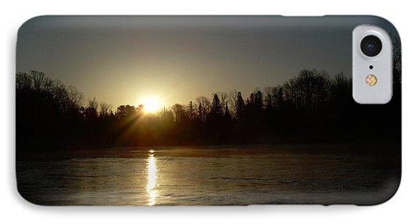 IPhone Case featuring the photograph Mississippi River Golden Sunrise by Kent Lorentzen