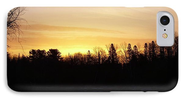 IPhone Case featuring the photograph Mississippi River Orange Sky by Kent Lorentzen