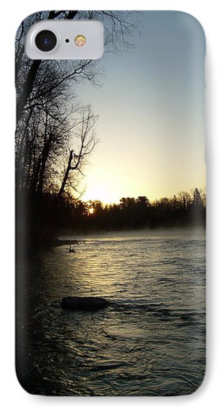 IPhone Case featuring the photograph Mississippi River Sunrise Shadow by Kent Lorentzen