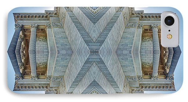 IPhone Case featuring the photograph Missouri Capitol - Abstract by Nikolyn McDonald