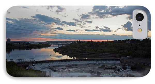 Missouri River Black Eagle Falls Mt IPhone Case