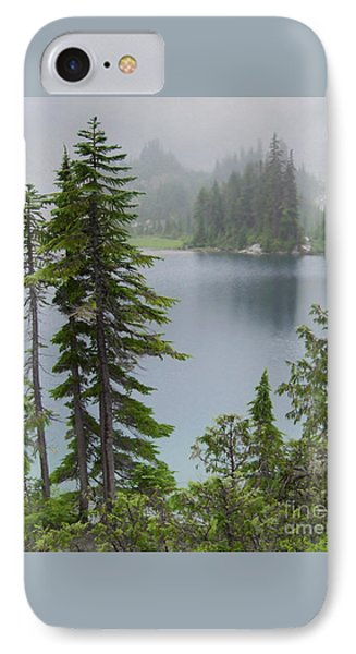 Mist At Snow Lake Phone Case by Charles Robinson