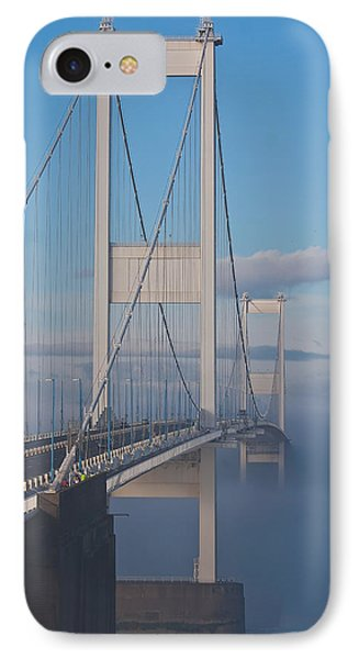 Mist Over The Severn Phone Case by Brian Roscorla