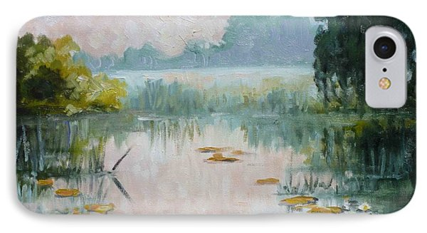 Mist Over Water Lilies Pond IPhone Case