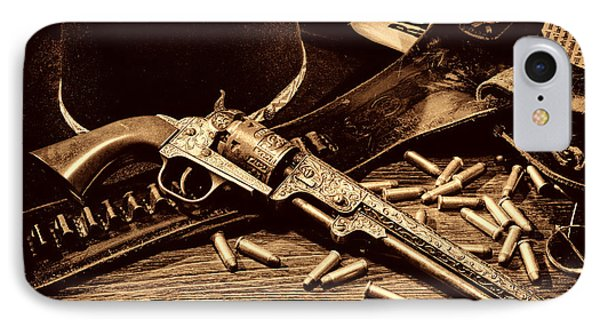 Mister Durant's Revolver IPhone Case by American West Legend By Olivier Le Queinec