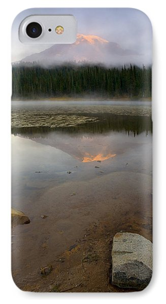 Misty Alpenglow Phone Case by Mike  Dawson